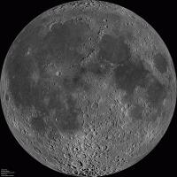 De maan door de Lunar Reconnaissance Orbiter