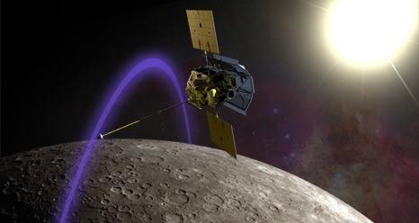 De MESSENGER is in een baan om Mercurius gekomen