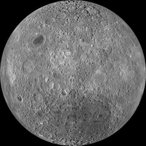 De achterkant van de maan door de LRO