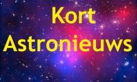 Kort astronieuws van de afgelopen week