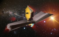 Impressie van de James Webb Space Telescope