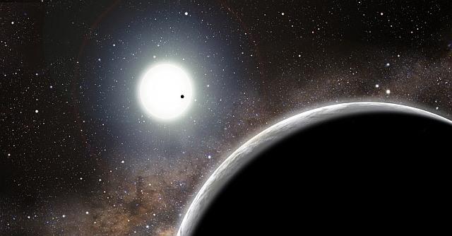 Impressie van het systeem rondom Kepler-19