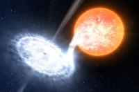 WISE-telescoop ziet de flikkerende jet van een zwart gat