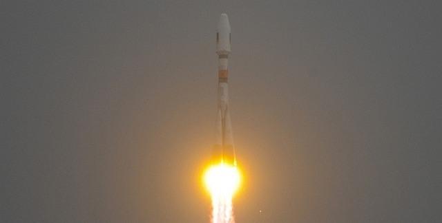 De Sojoez draagraket brengt de Galileo-satellieten in de ruimte