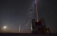 Kerst-komeet Lovejoy bij de VLT in Chili