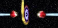 Sterrenkundigen zien zwart gat gaskogels de ruimte in schieten