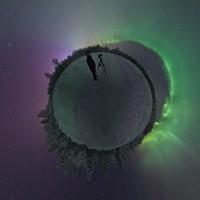 Een blik van 360° op het Noorderlicht