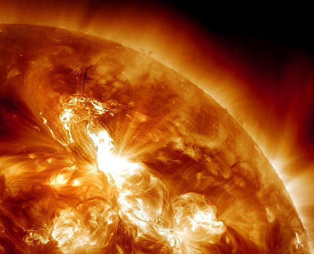 De M9-zonnevlam die vandaag door de zon werd geproduceerd