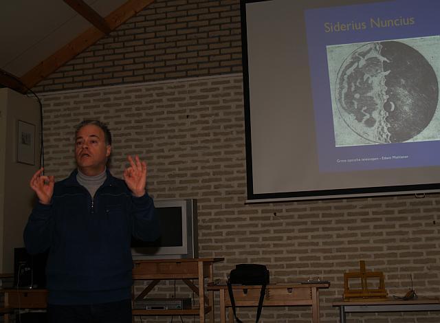 Edwin Mathlener spreekt bij Huygens over de grote optische telescopen