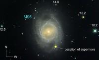 Ster die supernova SN 2012aw in M95 veroorzaakte is gevonden
