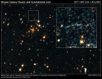 De Cluster van sterrenstelsels IDCS J1426.5 +3508 plus zwaartekrachtslens