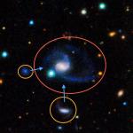 Exacte kopie ontdekt van de Melkweg en zijn begeleiders