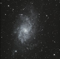 Messier 33 in het sterrenbeeld de Driehoek