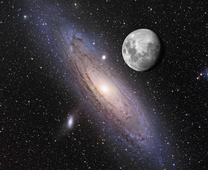 M31 en maan