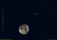 Samenstand  maan en Jupiter