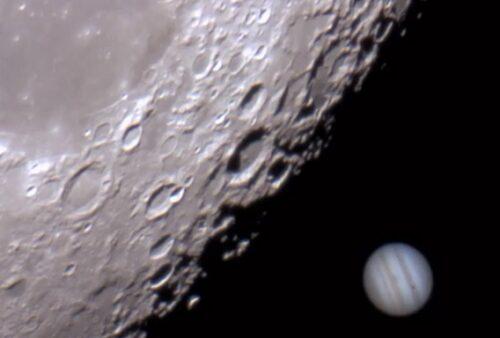maan en Jupiter