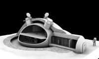 Ontwerp van een 3D-geprinte maanbasis