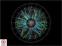 David Jones van EEVBlog neust rond op de Large Hadron Collider tentoonstelling