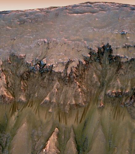 Mars Crater Gullies
