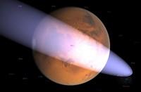 Ligt komeet C/2013 A1 (Sinding Spring) op Ramkoers met Mars? Credit: Ian Musgrave/Astroblog.