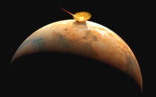Comet Impact on Mars