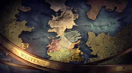 Game of Thrones worldmap
