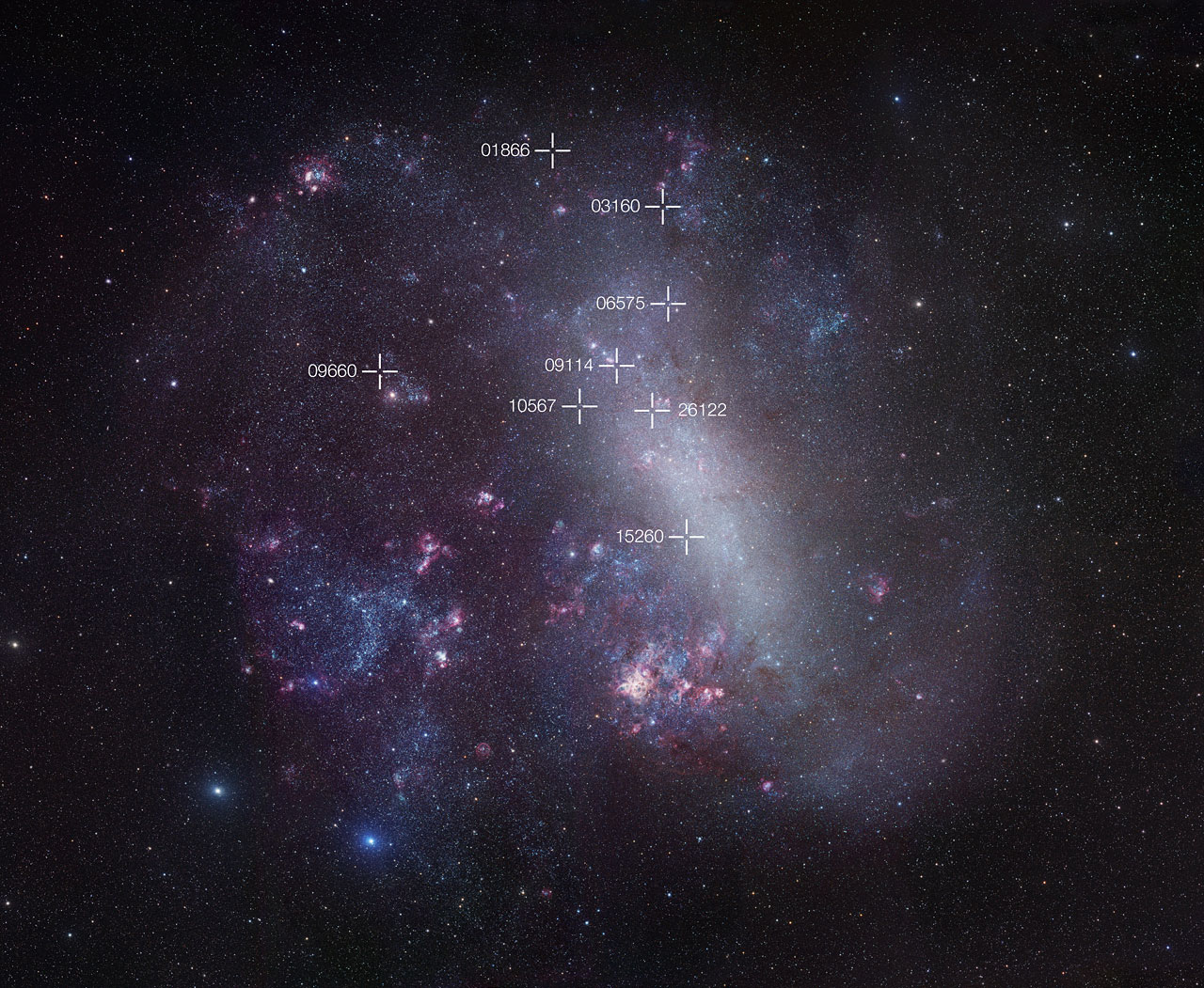 Kosmisch meetlint nauwkeuriger dan ooit tevoren dankzij dubbelsterren in Grote Magelhaense Wolk