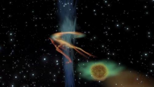 black hole eats brown dwarf