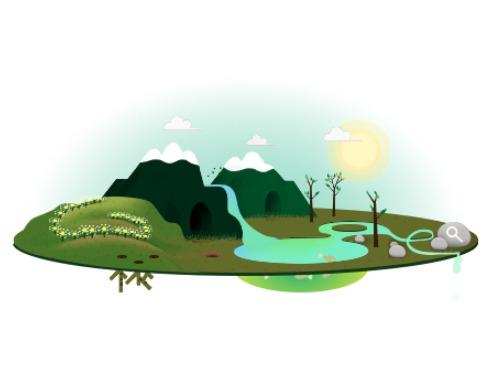 google earthday doodle