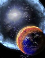 Impressie van de supernova van Munchen