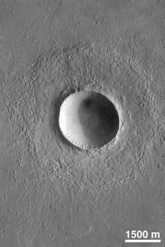 Krater op Mars