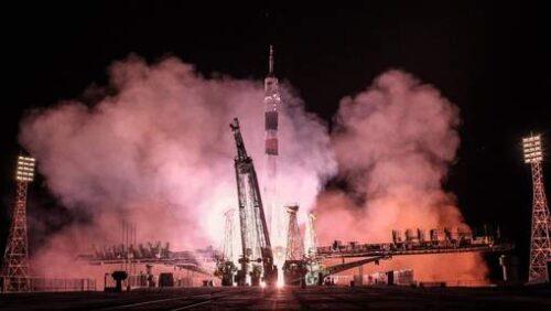 Soyuz lancering mei