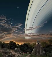 Hoe zou de hemel er uit zien als de aarde net als Saturnus ringen zou hebben?