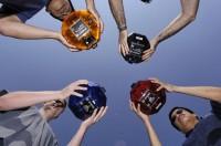 Scholieren met Spheres minisatellieten
