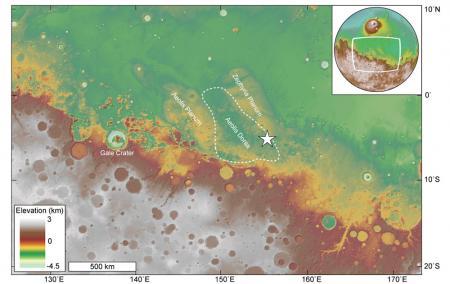 Gale-krater en Aeolis