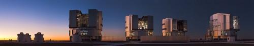 De telescopen van de VLT