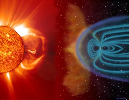 magnetic field shockwave earth