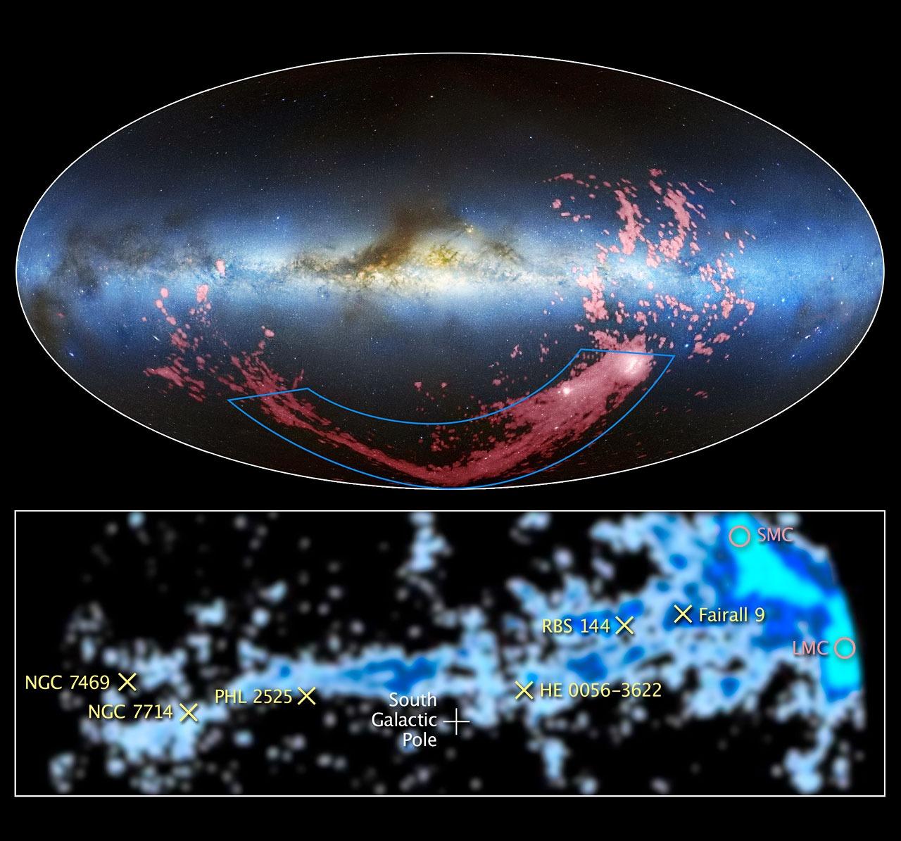 Hubble lost veertig jaar oude raadsel op van de Magelhaense Stroom