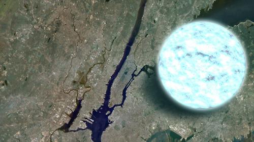 vergelijking neutronenster NYC
