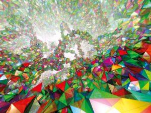 Künstlerische Impression des Quantenraums der Schleifen-Quantengravitation