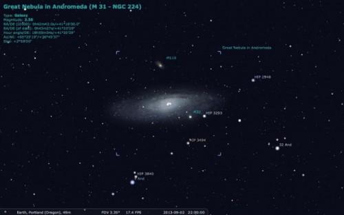 M31 5 locatie