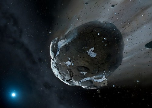 asteroid destroyed by white dwarf