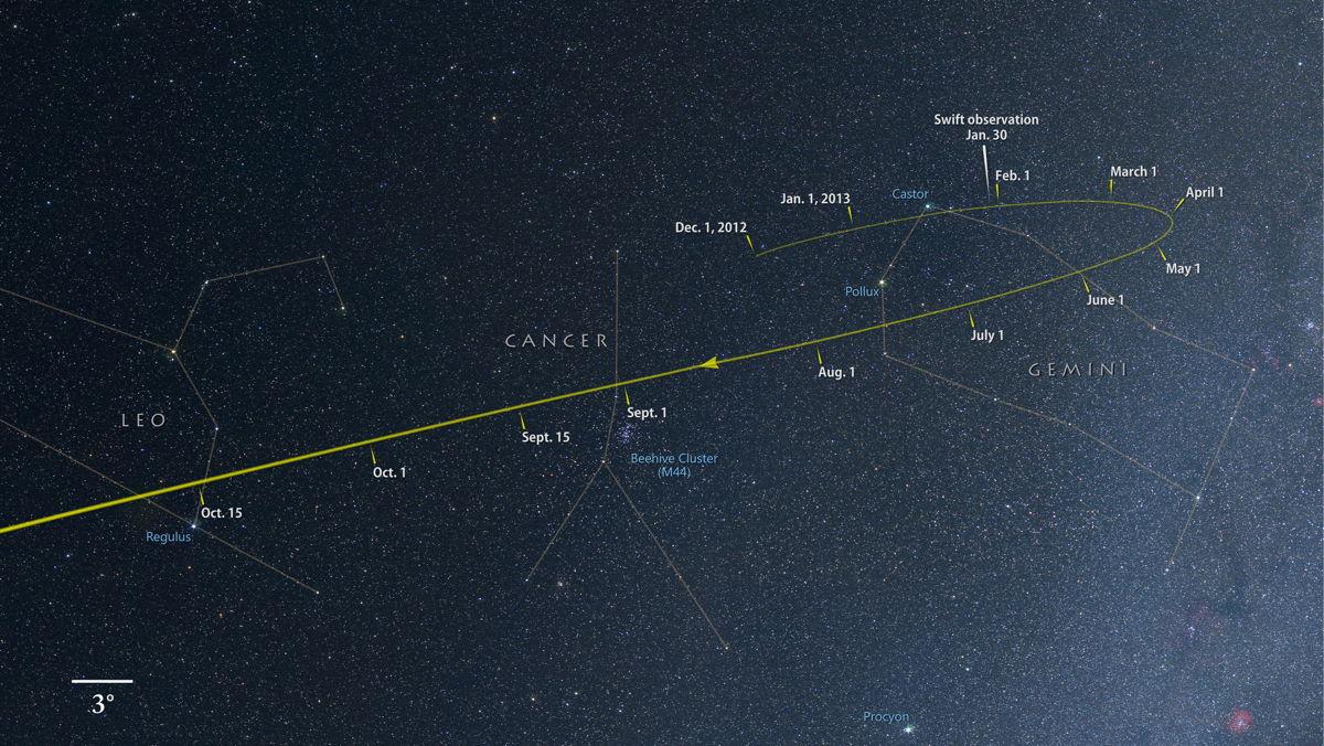 Astrovacançe Grandchamps: komeet ISON gefotografeerd ...