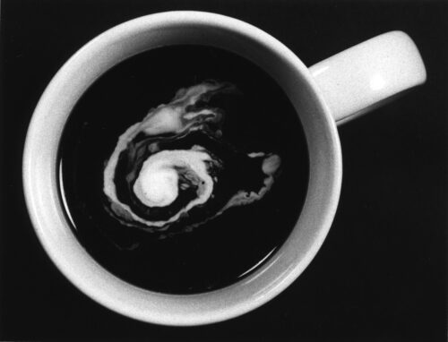 Cream Swirling in Coffee, 1984, credit Esther Kutnick