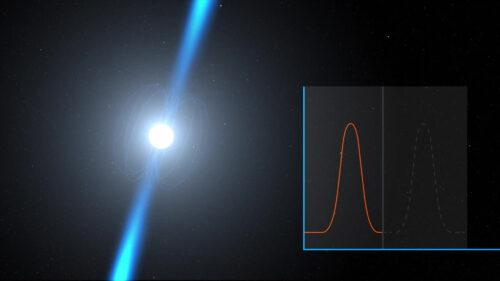 Voorstelling van een pulsar