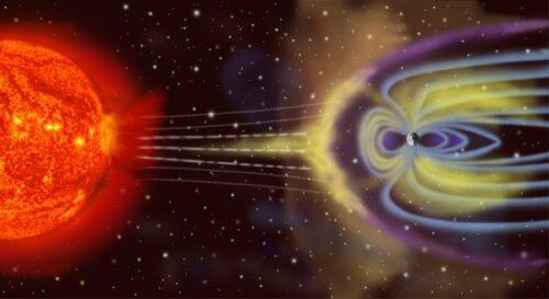 Mars Verhaal 09 zonnewind magnetisch veld