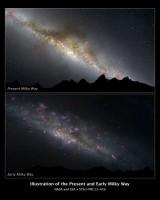 Hubble laat zien hoe de Melkweg er in haar kinderjaren uit zag