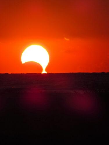 De eclips gefotografeerd door Jeff Jackson in Sullivan's Island, South Carolina. Credit and copyright: Jeff Jackson