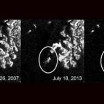Mysterieuze structuur ontdekt in een van de grootste methaanmeren op Saturnusmaan Titan