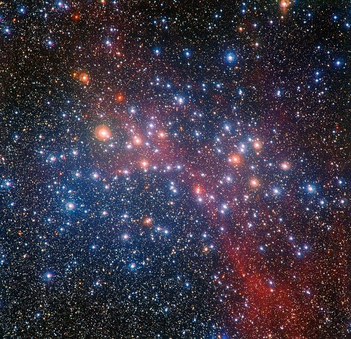 Een kleurrijke verzameling sterren van middelbare leeftijd